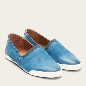NEW Frye Melanie Slip On Sneakers Sea Blue 6.5M